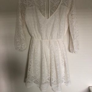 White, lace, summer dress